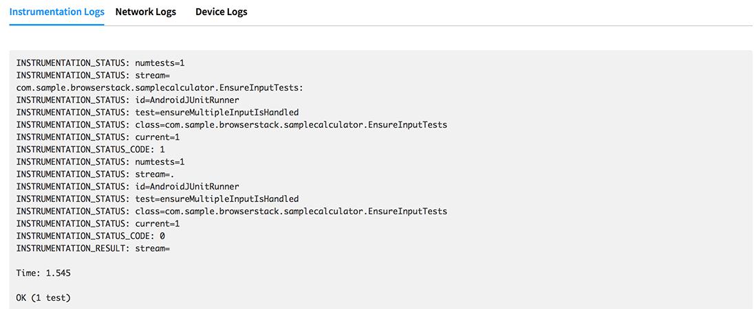 Instruments logs
