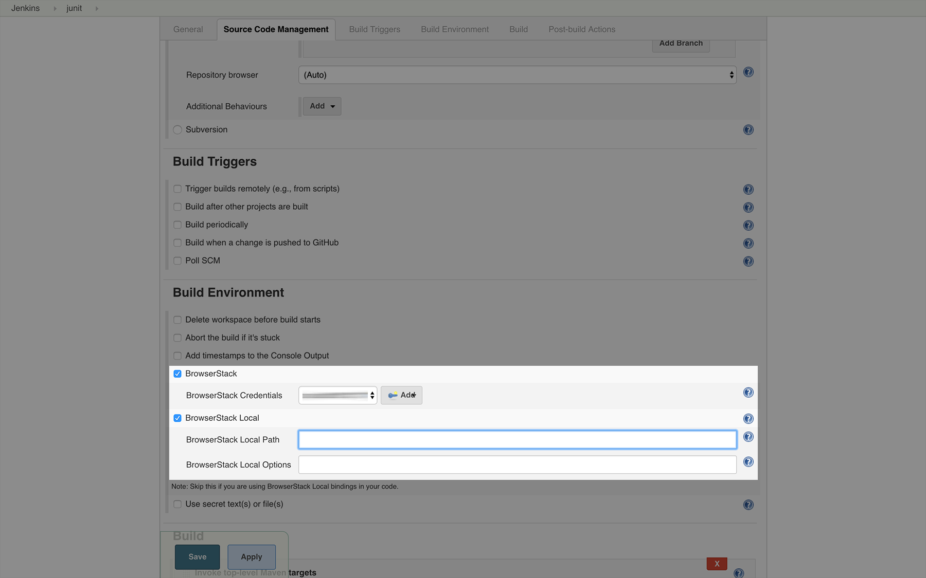 Integrate your Selenium Webdriver tests with Jenkins | BrowserStack