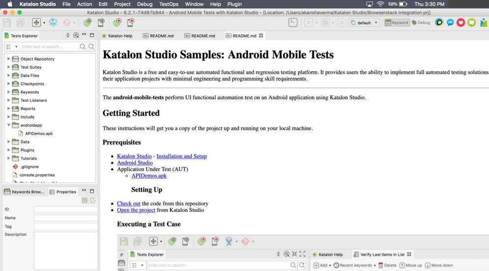 Select App Katalon