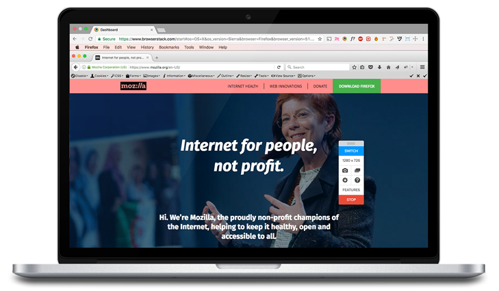 Firefox on Desktop